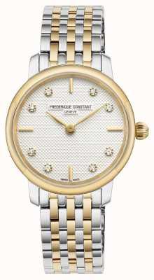 Frederique Constant Cadran mince serti de diamants pour femmes FC-200STDS23B