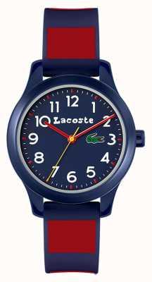 Lacoste Enfants 12:12 | bracelet en silicone bleu et rouge | cadran bleu 2030035