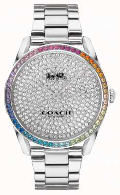 Coach Preston femmes | bracelet en argent en acier inoxydable | cadran serti de cristal 14503658