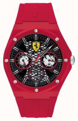 Scuderia Ferrari Aspire | bracelet en silicone rouge | cadran noir 0830786