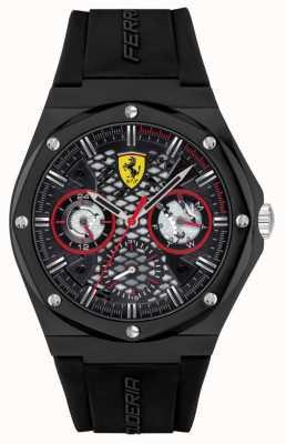 Scuderia Ferrari Aspire | bracelet en silicone noir | cadran noir 0830785