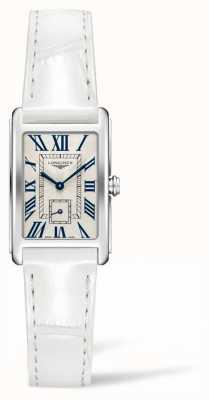 Longines Dolcevita élégance contemporaine | femme | cuir blanc | Quartz suisse L52554712