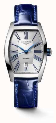 Longines Bracelet cuir bleu tonneau Evidenza L21424702