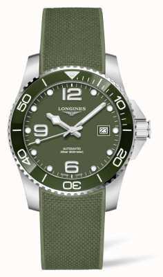 Longines Montre automatique bracelet caoutchouc vert Hydroconquest L37813069