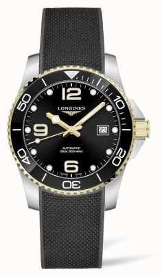 Longines Bracelet en caoutchouc noir automatique Hydroconquest L37813569