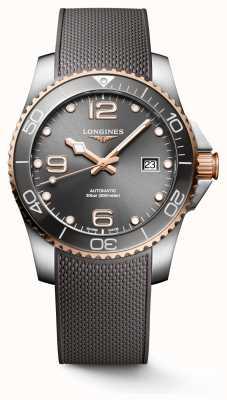 Longines Hydroconquest 41mm automatique | cadran gris | bracelet en caoutchouc gris L37813789