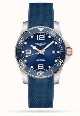 Longines Bracelet caoutchouc bleu Hydroconquest automatique 41 mm L37813989