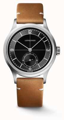Longines Bracelet en cuir marron classique Heritage L28284532
