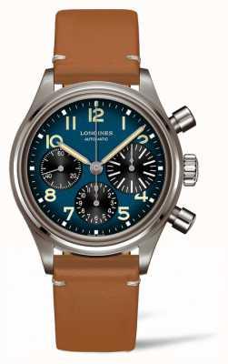 Longines Patrimoine | avigation patudo | bracelet en cuir marron L28161932