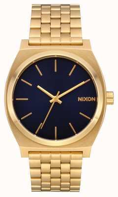 Nixon Compteur de temps | tout or / indigo | bracelet en or | cadran indigo A045-2033
