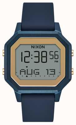 Nixon Montre Siren SS avec bracelet en silicone bleu marine A1211-1859