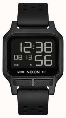 Nixon Chaleur | montre à bracelet en caoutchouc noir A1320-001