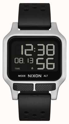 Nixon Chaleur | bracelet en caoutchouc perforé noir A1320-008