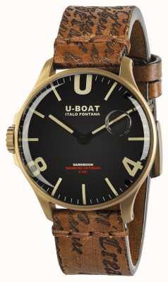 U-Boat Cadran noir de 44 mm de Darkmoon | bronze ionisé | bracelet en cuir 8467/A
