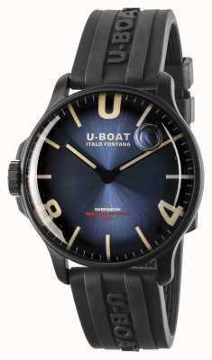 U-Boat Bracelet en caoutchouc / IPB bleu impérial de 44 mm de Darkmoon 8700