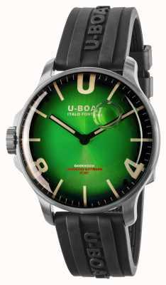 U-Boat Bracelet en acier inoxydable / caoutchouc vert noble de 44 mm de Darkmoon 8702