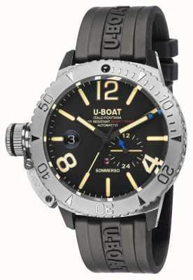 U-Boat Sommerso | montre bracelet en caoutchouc noir 9007/A
