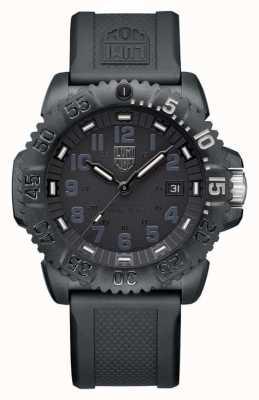 Luminox Fondation du phoque de la marine | Série 3050 | bracelet en silicone noir XS.3051.GO.NSF