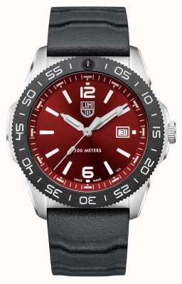 Luminox Plongeur Pacifique | cadran rouge | bracelet en caoutchouc noir XS.3135