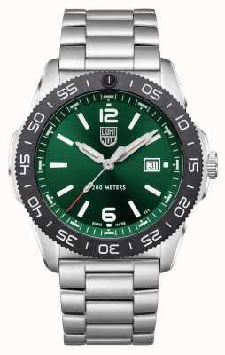 Luminox Plongeur Pacifique | cadran vert | bracelet en acier inoxydable XS.3137