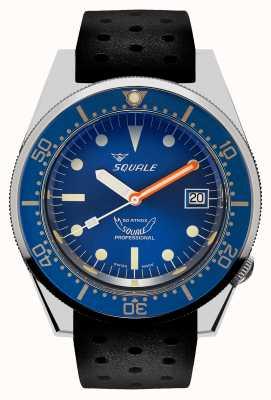Squale Ocean | automatique | cadran bleu | bracelet en silicone noir 1521OCN.NT-CINTRB20