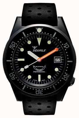 Squale 1521 pvd | automatique | cadran noir | bracelet en silicone noir 1521PVD.NT-CINTRB20