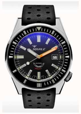 Squale Caoutchouc gris mat | automatique | cadran gris | bracelet en silicone noir MATICXSA.NT-CINTRB22