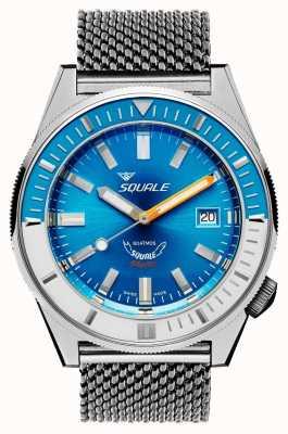 Squale Maille bleu clair Matic | automatique | cadran bleu | bracelet en maille d'acier inoxydable MATICXSE.ME22-CINSS22