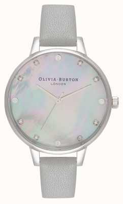 Olivia Burton Demi serpillière grise gris et argent OB16SE16