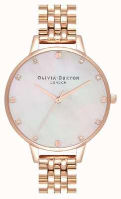 Olivia Burton Bracelet Demi blush mop en or rose OB16SE15