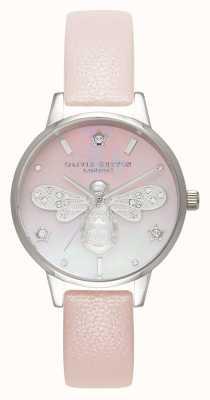 Olivia Burton Sparkle bee midi perle rose et argent OB16GB09