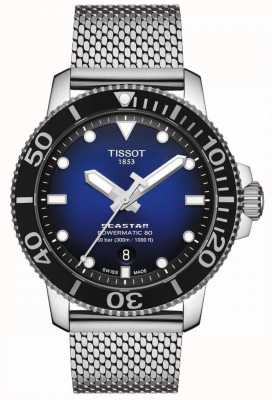 Tissot Seastar 1000 | powermatic 80 | cadran bleu | maille inoxydable T1204071104102