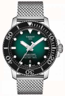 Tissot Seastar 1000 | powermatic 80 | cadran vert | maille inoxydable T1204071109100