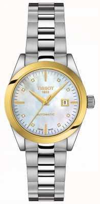 Tissot T-ma dame | Or 18 carats | auto | cadran de vadrouille | bracelet en acier inoxydable T9300074111600
