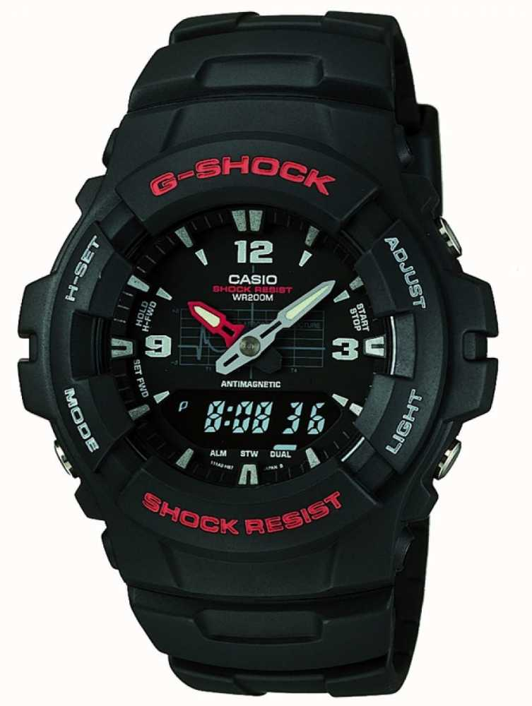 Casio Chronographe G Shock G 100 1bvmes G 100 1BVMUR First  z9vZ3