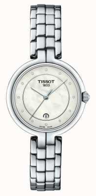 Tissot Flamingo | cadran en nacre | bracelet en acier inoxydable T0942101111601