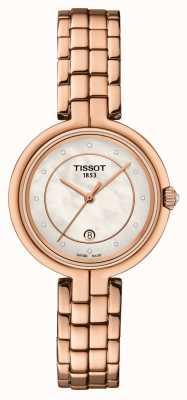 Tissot Flamingo | cadran en nacre | acier pvd or rose T0942103311602