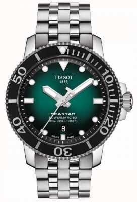 Tissot Seastar 1000 | powermatic 80 | cadran vert | acier inoxydable T1204071109101
