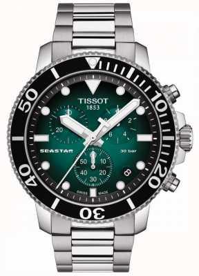 Tissot Seastar 1000 | chronographe | cadran vert | acier inoxydable T1204171109101