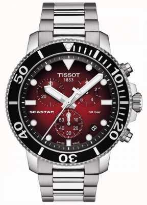 Tissot Seastar 1000 | chronographe | cadran rouge | acier inoxydable T1204171142100