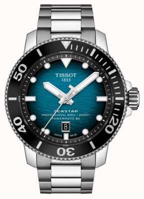 Tissot | seastar 2000 pro | powermatic 80 | cadran turquoise | bracelet en acier | T1206071104100