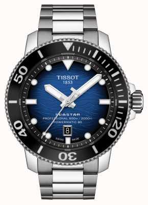 Tissot Seastar 2000 pro | powermatic 80 | cadran bleu | acier T1206071104101