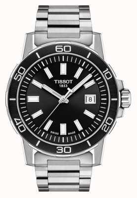 Tissot Supersport | cadran noir | bracelet en acier inoxydable T1256101105100