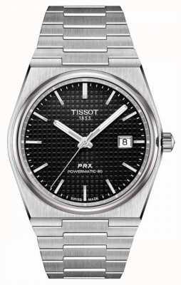 Tissot | prx 40 205 | powermatic 80 | cadran noir | bracelet en acier inoxydable | T1374071105100