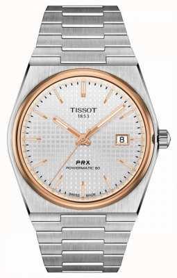 Tissot | prx 40 205 | powermatic 80 | cadran blanc | bracelet en acier inoxydable | T1374072103100