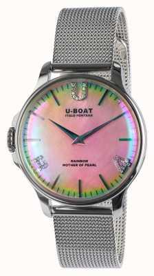 U-Boat Bracelet maille maille arc-en-ciel 38 rose 8472/MT