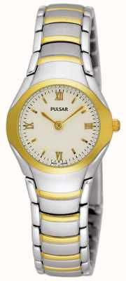 Pulsar Mesdames montre bracelet en acier inoxydable deux tons PEG406X1