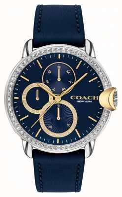 Coach Arden pour femmes | bracelet en cuir bleu | cadran bleu 14503734