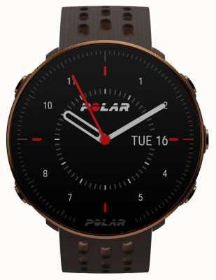 Polar Vantage m2 | bracelet en silicone marron | boîtier en cuivre | 90085163
