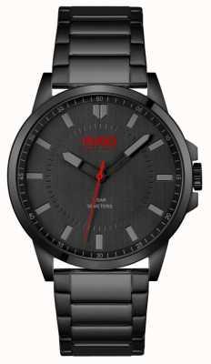 HUGO #premier | bracelet plaqué ionique noir pour homme | cadran noir 1530187